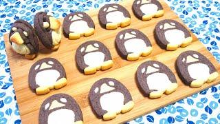 切っても切ってもペンギンのアイスボックスクッキー♪難しい成形も、動画...