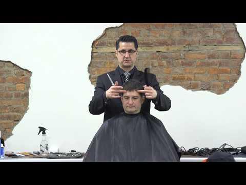 Greg Zorian at the Paul Mitchell School - Barber Class