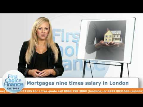 Mortgages nine times salary in London