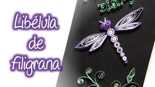Libelula de filigrana , Quilling drangonfly