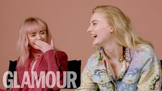 """Sophie Turner & Maisie Williams Dating Advice: """"It's not what you have, it's how you use it!"""""""