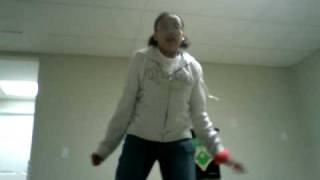 Gabbi doing her double mint gum dance