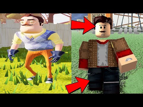 Funny moments in Hello Neighbor VS ROBLOX Horror Game    Experiments with Rod Episode 68  