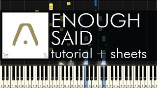 "How to Play ""Enough Said"" by Aaliyah feat. Drake - Piano Tutorial"
