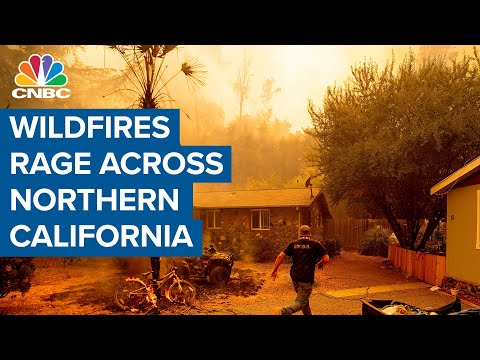 Wildfires rage across Northern California amid record heat and lightning strikes