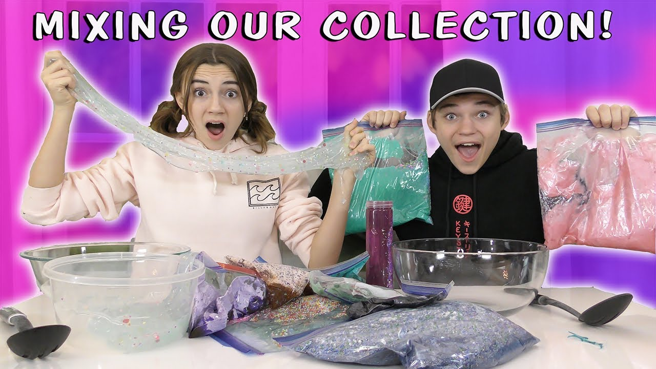 MIXING OUR COLLECTION TO SEE WHO ENDS UP WITH THE BEST SLIME | We Are The Davises
