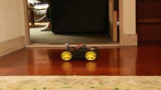 Arduino MEGA Sainsmart 4WD Robot Project on YouTube
