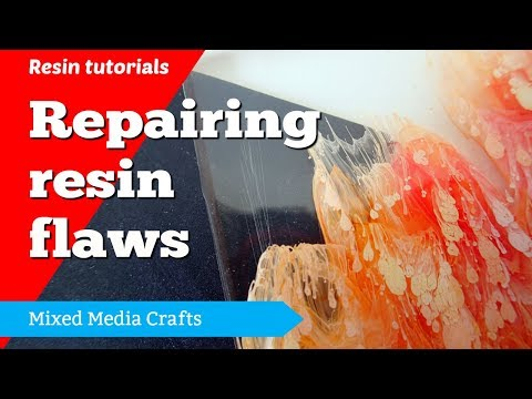 How to fix flaws in resin - resin for beginners
