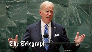 video: Joe Biden seeks to reassert leadership in United Nations speech after series of blunders