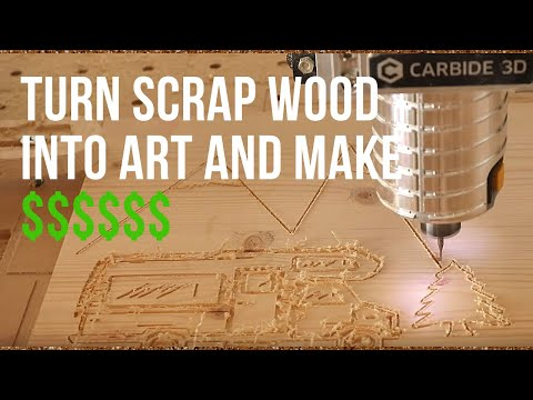 Turn Scrap wood Into Money With A CNC. This is an easy DIY project made out of scrap wood for $$$