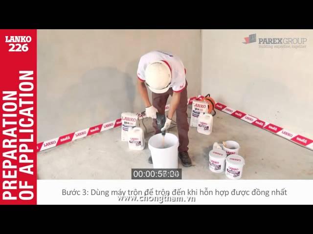 Hướng dẫn dùng vật liệu chống thấm đàn hồi 226 chống thấm sàn bê tông
