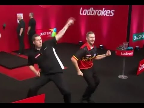 Dimitri van den Bergh and Kirk Shepherd Dance Battle - 2019 PDC UK Open
