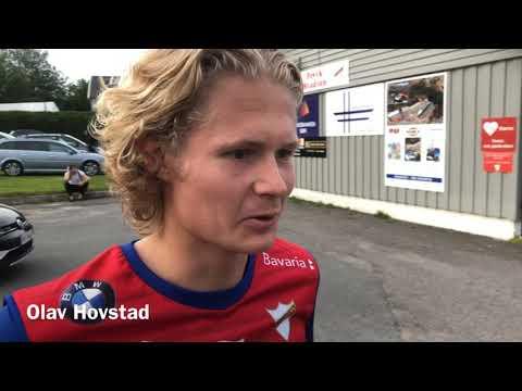 Hovstad-brødrene etter duellen på Fevik stadion