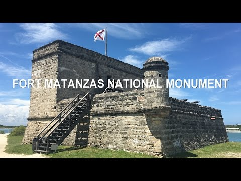 Historic Fort Matanzas National Monument in 4k UHD Video