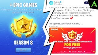 How to Receive * FREE * Battlepass SEASON 8 in Fortnite..