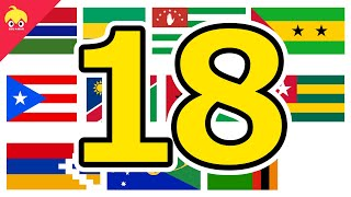 ピタゴラ国旗18【世界の国旗】