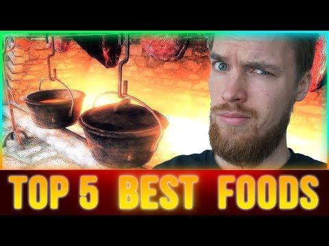 Skyrim Top 5 Foods in SURVIVAL MODE