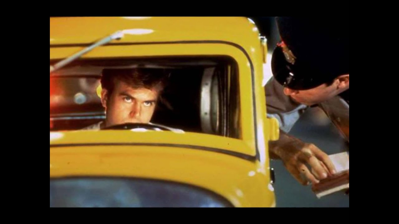 American boys in a car