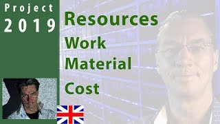 #2 MS Project 2019  Resources  Work   Cost   Material