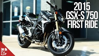 2015 Suzuki GSX-S750 / GSR 750 | First Ride(I took Suzuki's brand new GSX-S 750. How did it hold up against similar bikes from Yamaha? Watch the video and find out. Bike Provided by: Mountain ..., 2015-03-20T12:00:00.000Z)