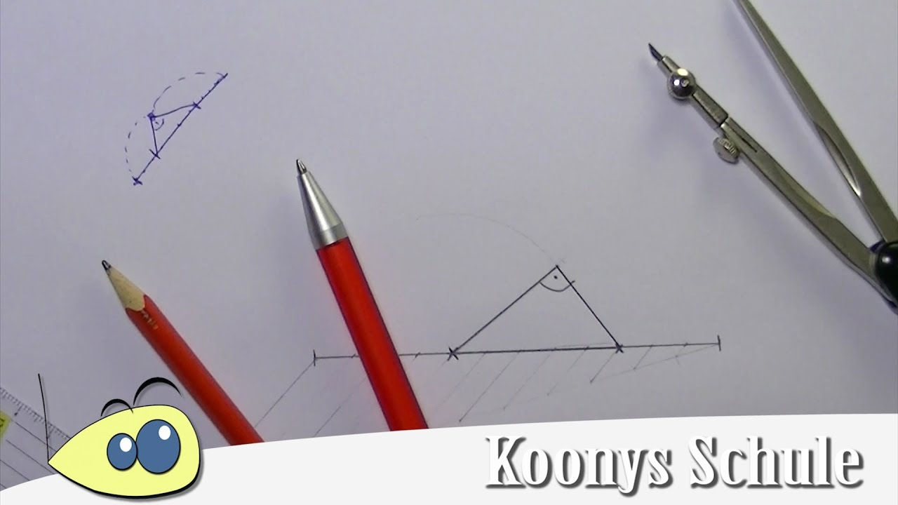 Rechtwinklige Dreiecke mit Streckenteilung konstruieren ...