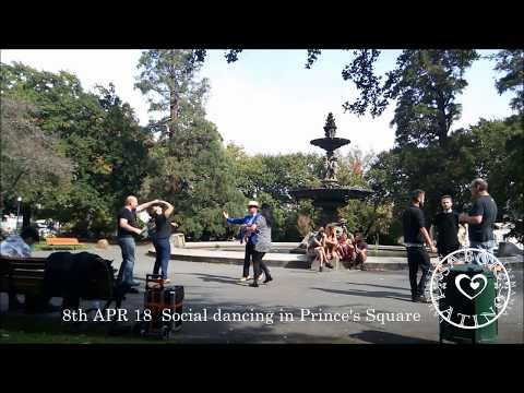 08/04/18 Cuban casino social dancing in Prince's Square (Melissa & Taka)