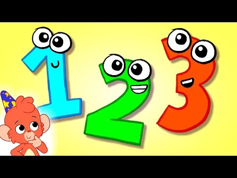 1234 Count one to ten |  Learning numbers 123 up to 10 | counting 12345678910 in english esl cartoon
