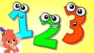 1234 Count one to ten Learning numbers 123 up to 10 counting 12345678910 in english esl cartoon