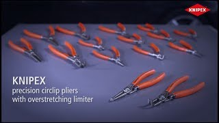 KNIPEX Precision Circlip Pliers - For internal and external circlips