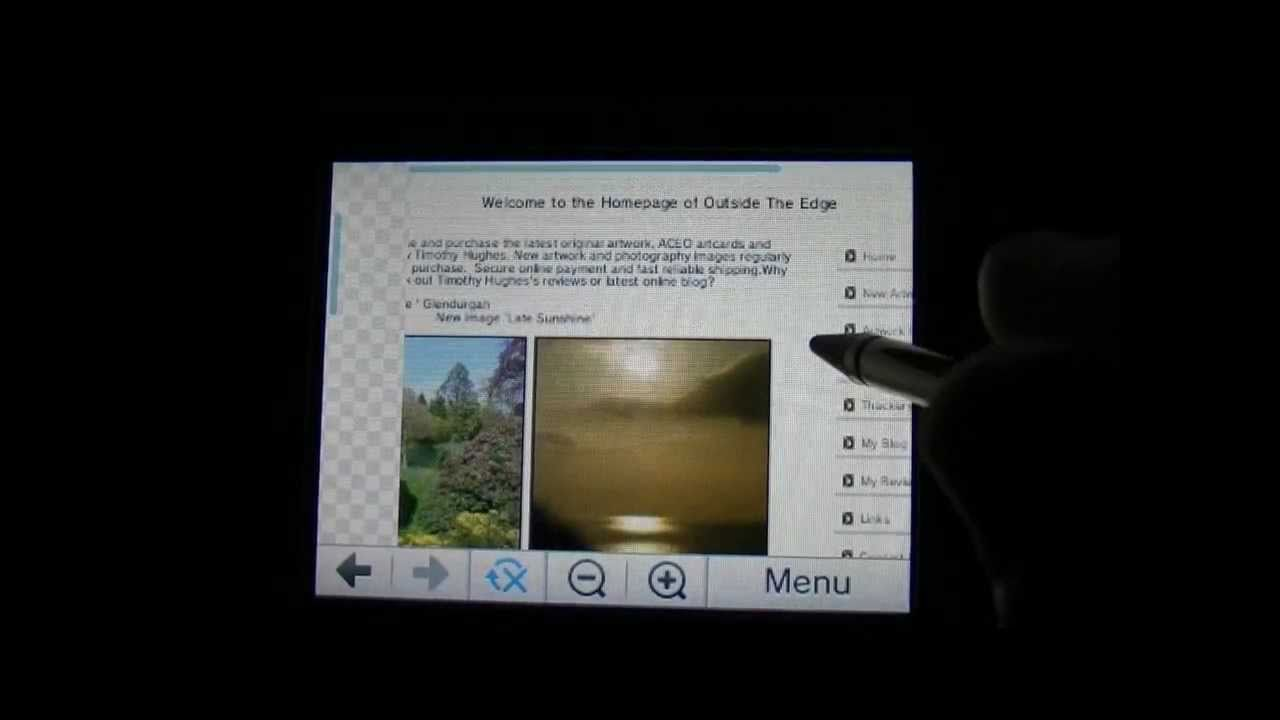 Nintendo 3DS Internet Browser / Web Browser