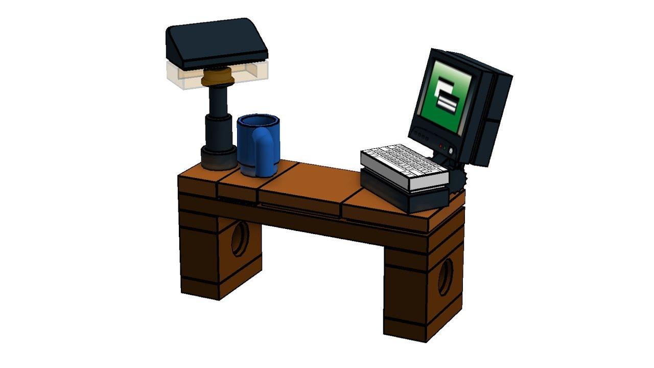 Lego bureau büro office v youtube