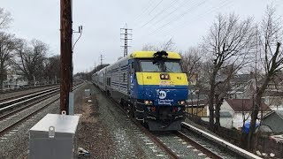 LIRR HD 60fps: EMD DE30AC 411 Powers Through Lynbrook w/ Train 2706 (4/9/19)