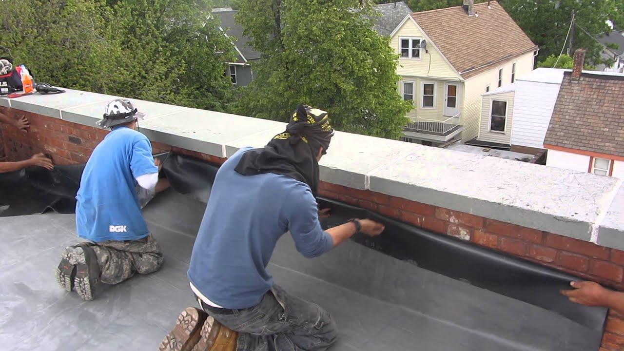 Naples Roofing Epdm Rubber Wall Flashing Detail Youtube