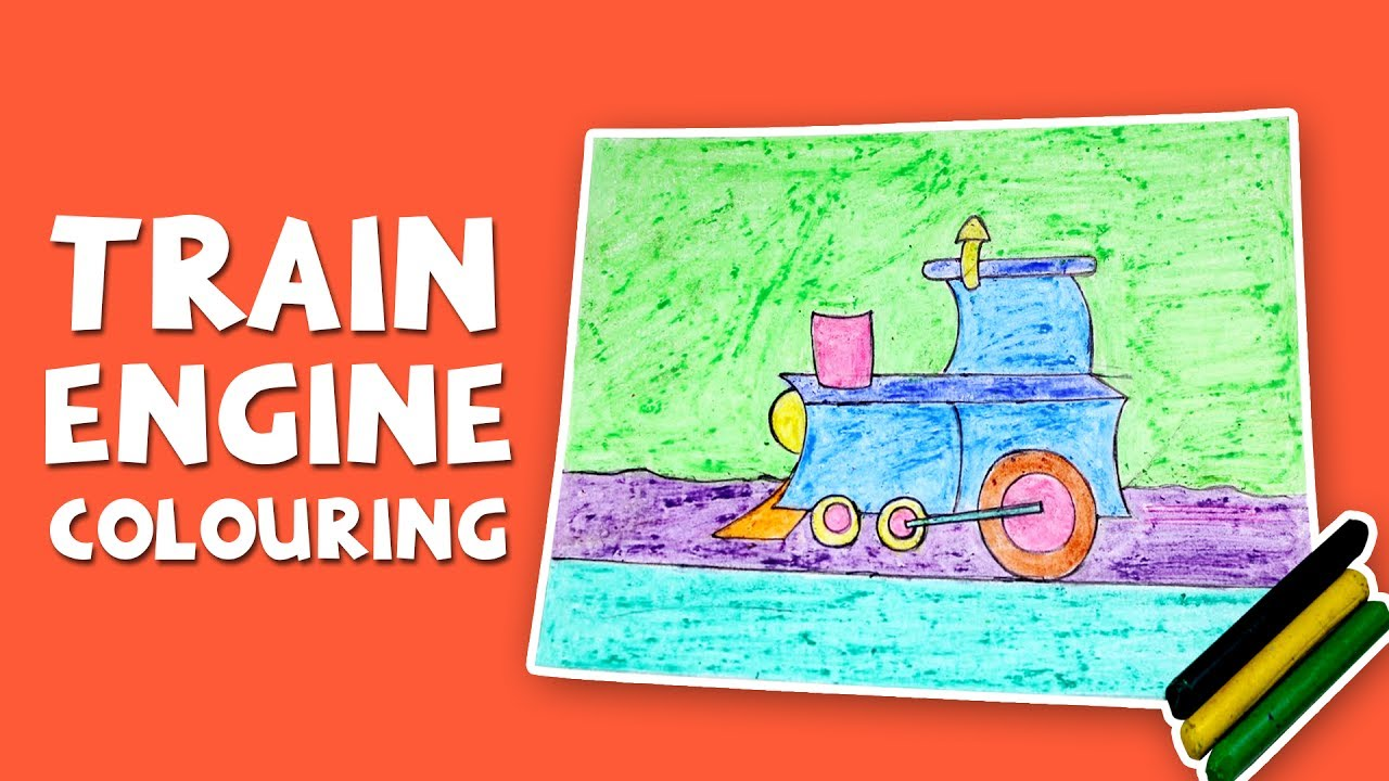 learn colors with train engine train engine coloring page with