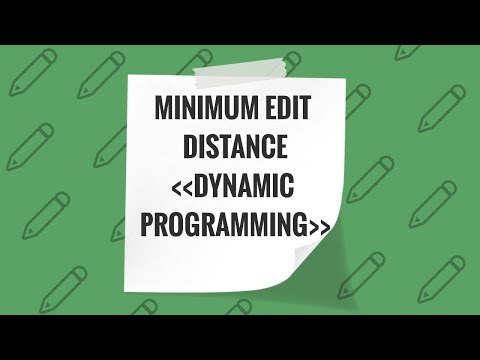 3. Minimum Edit Distance -  Dynamic Programming