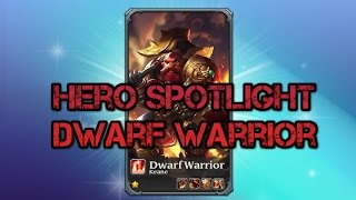 Heroes Charge Spotlight: Dwarf Warrior (NEW hero)