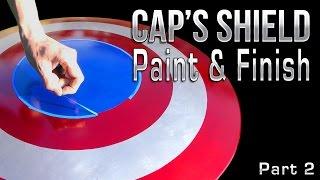Captain America Shield Part 2 - Paint & Handles