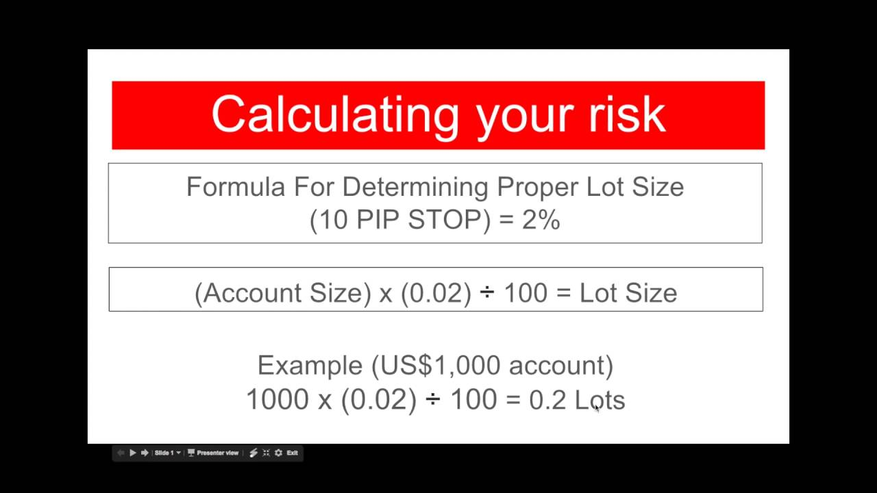 What does lot size mean in forex