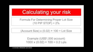 Trading Like a Trader: Calculating Your Risk in Forex - How to setup your LOT SIZE