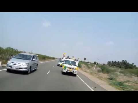 Veerapandiya Kattabomman thrilling and mass car ride by kovilpatti Nayakars