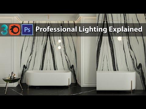 Corona renderer lighting Explained