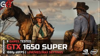 GTX 1650 SUPER + Core i5 9400F + 16GB - 8 Games Tested