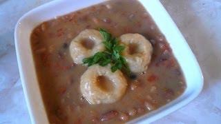 Sopa de Frijoles con Bolitas de Masa - Mi Receta