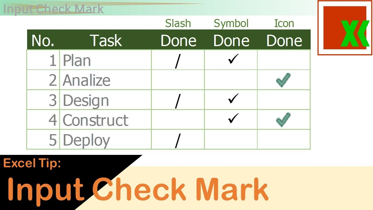 Excel tip input check mark youtube excel tip input check mark biocorpaavc Gallery