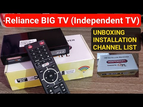 Reliance Big TV (Independent TV) Set Top Box Unboxing, Installation, Channel List [Not Jio DTH]