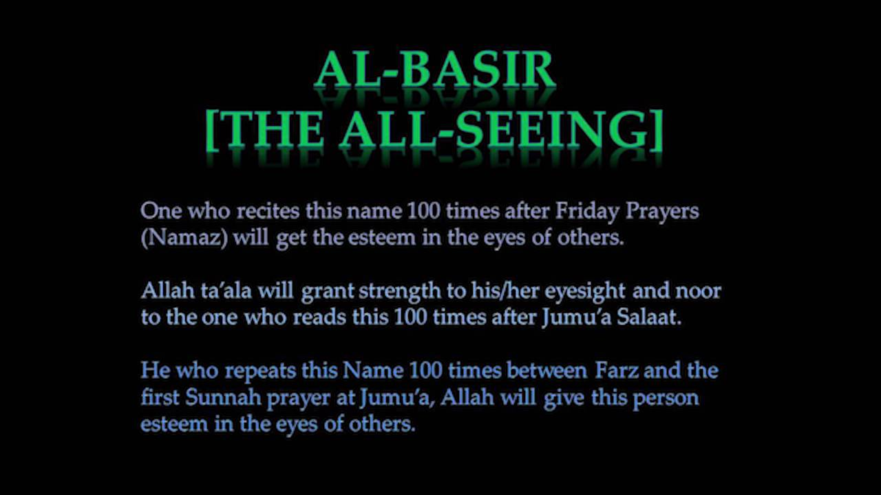 Benefits Of Reciting 99 Names Allah