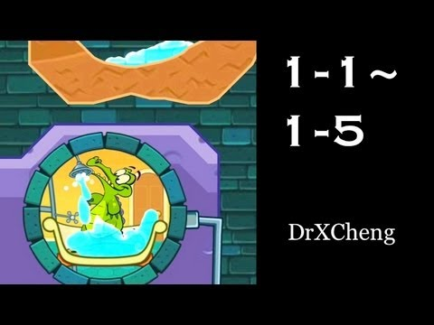 Where's My Water? Walkthrough Game Play – Level 1-1 to 1-5 [HD]