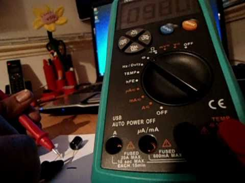 how to test a electrolytic capacitor with a digital multimeter esr rh youtube com Types of Capacitor Electrolytic Capacitor Markings