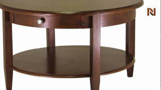 Winsome Concord Round Coffee Table With Drawer And Shelf 94231