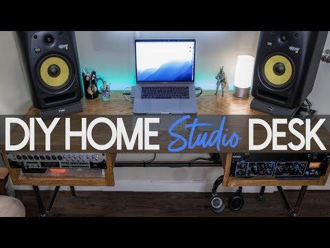 Ultimate DIY Home Studio Desk - Setup & Tour